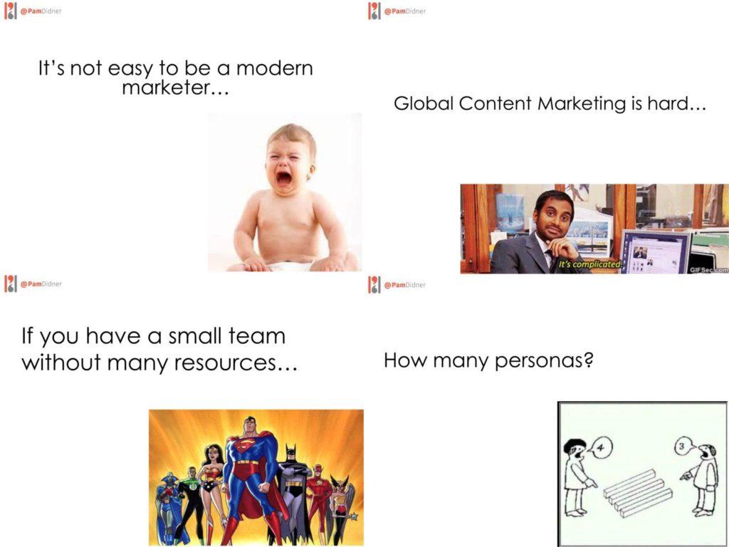 Leadership, teamwork, productivity, content marketing team, content strategy, global marketing, B2B, presentation, slide examples