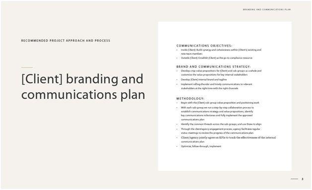 internal communications methodology presentation