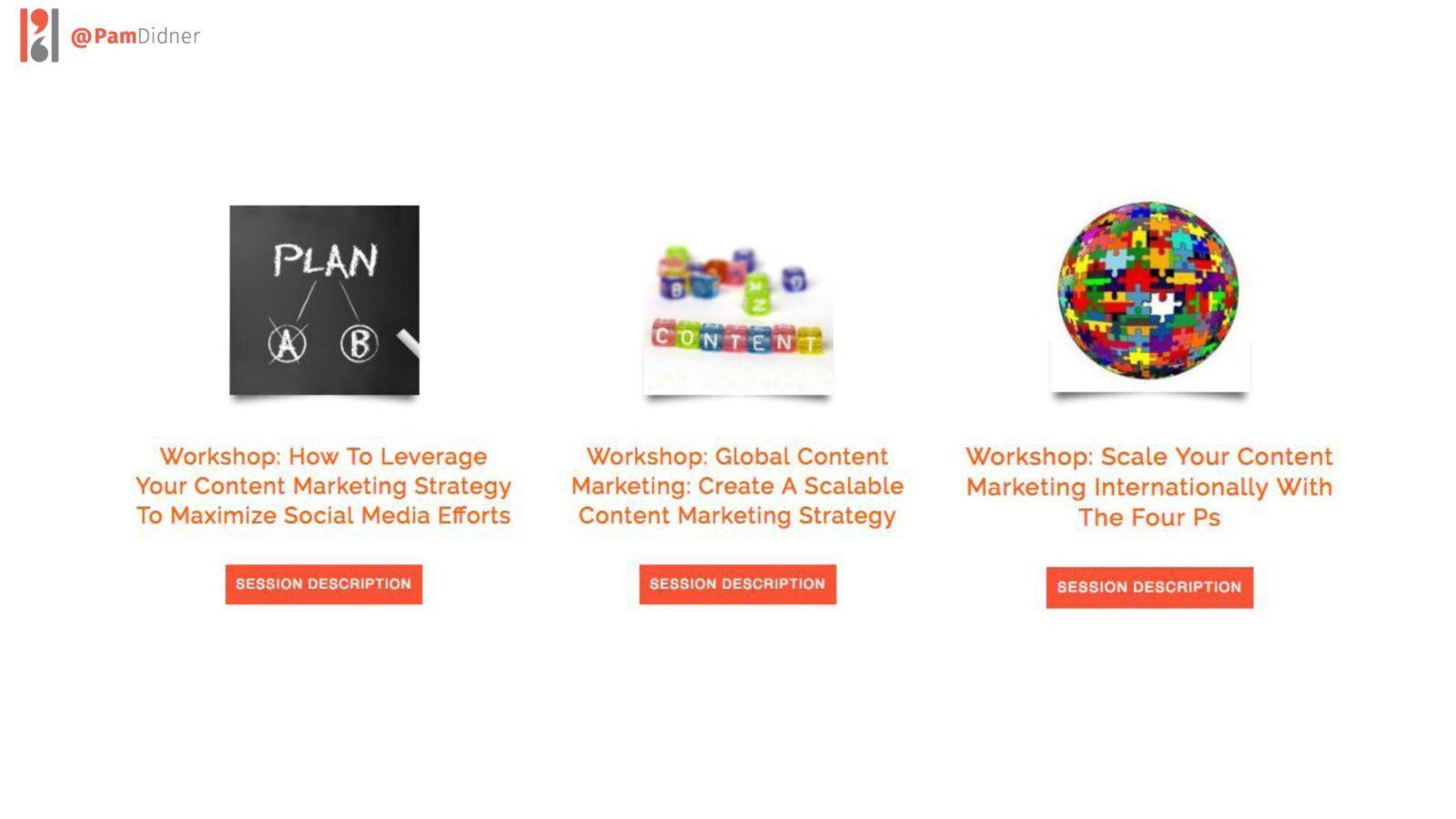 Content Marketing Workshops Pam Didner