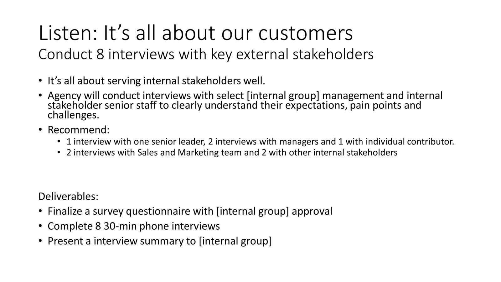 internal communications methodology example