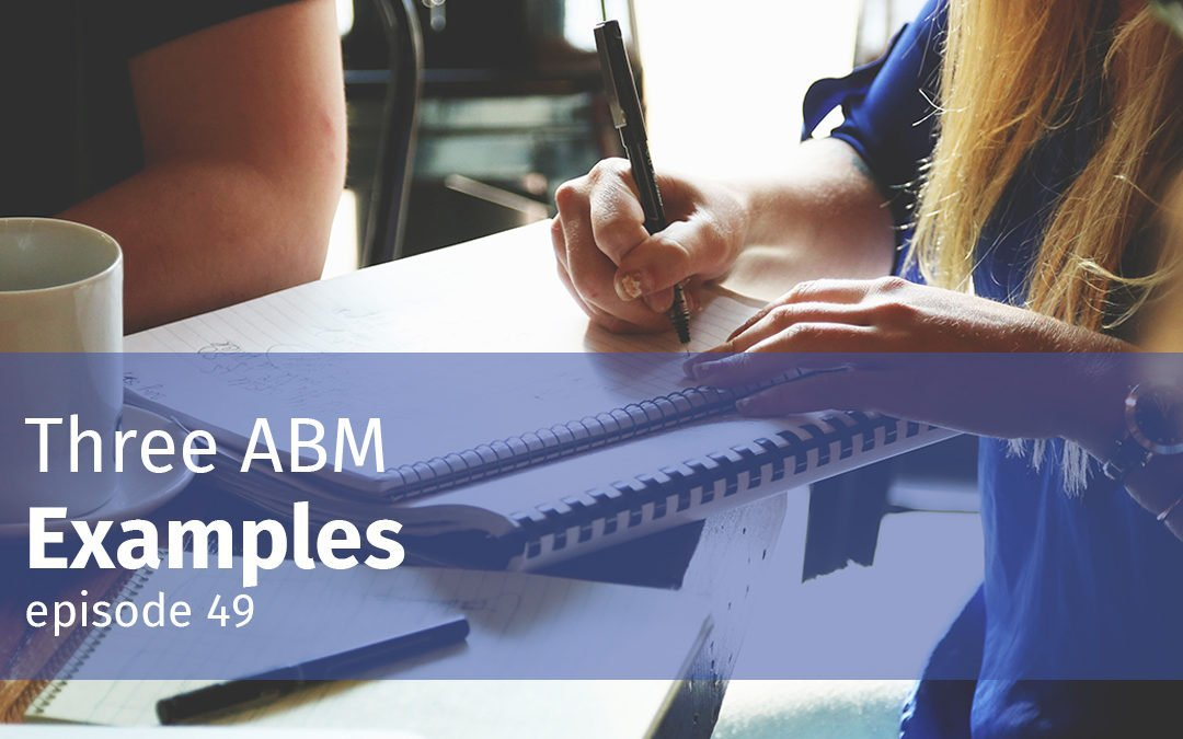 Episode 49 Three ABM Examples