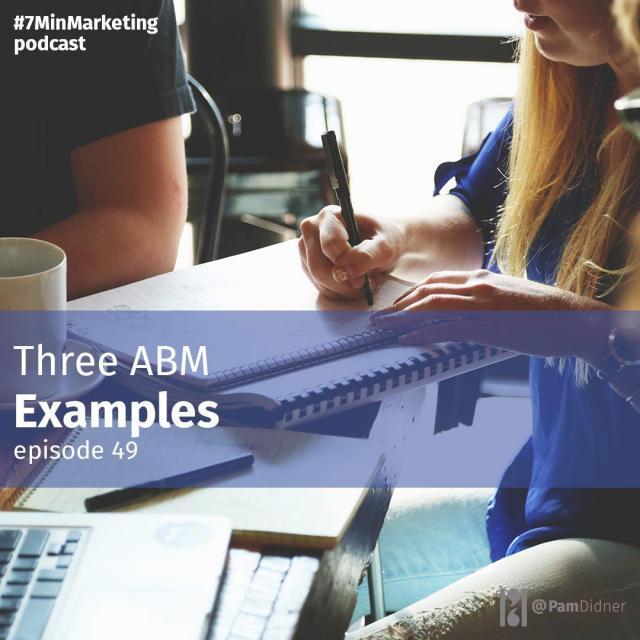 Three ABM Examples