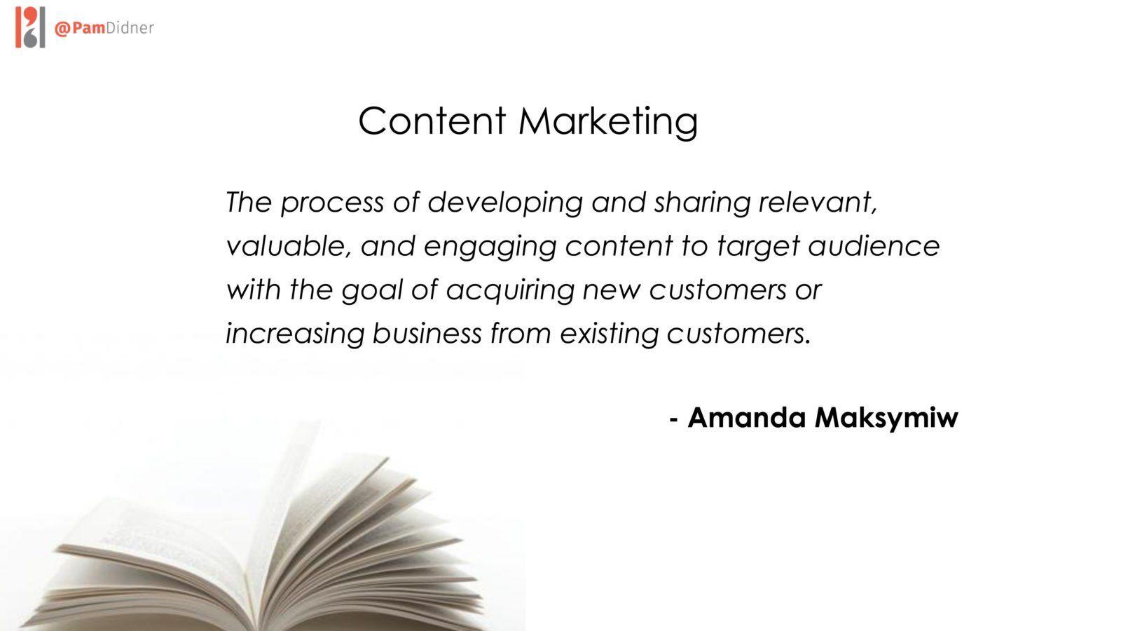 Amanda Maksymiw Content Marketing Definition