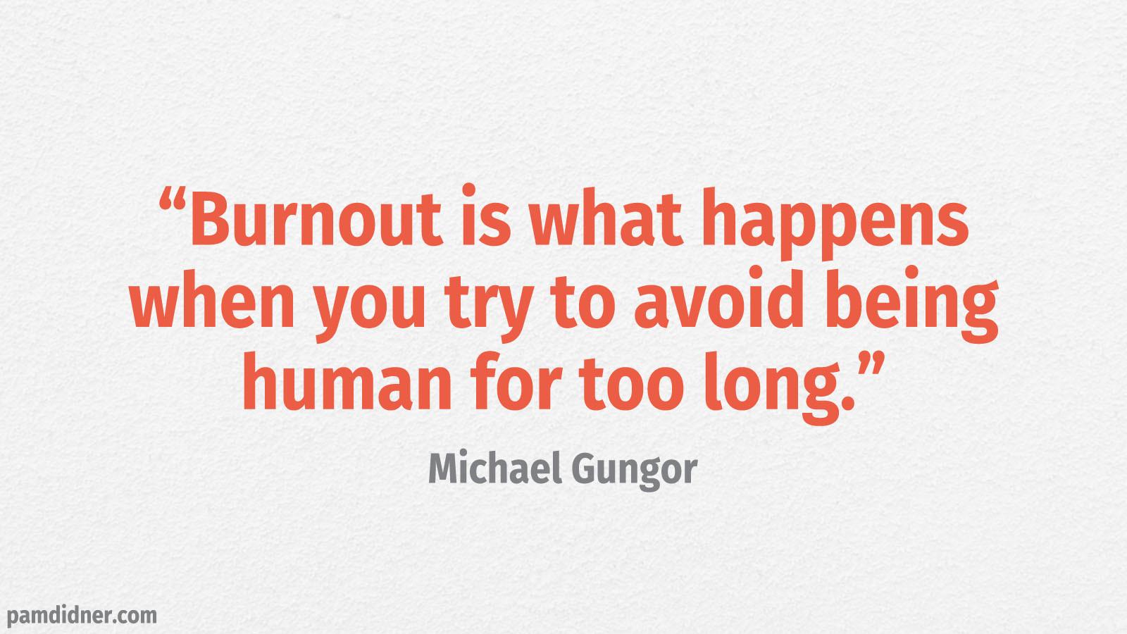 Content Creation Burnout Quote Michael Gungor
