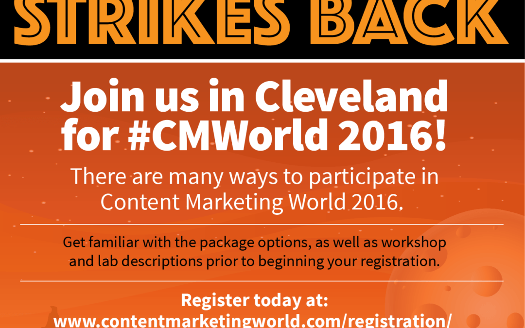 Content Marketing World 2016 – A Must To Go Conference