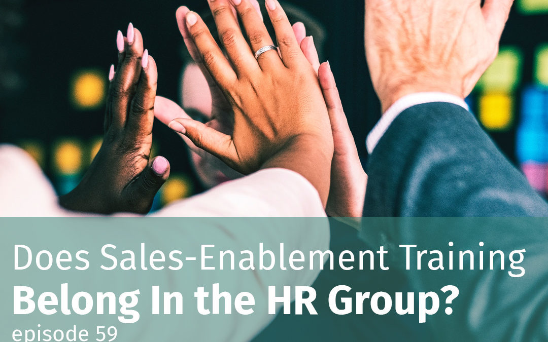Does sales-enablement training belong in the HR group?